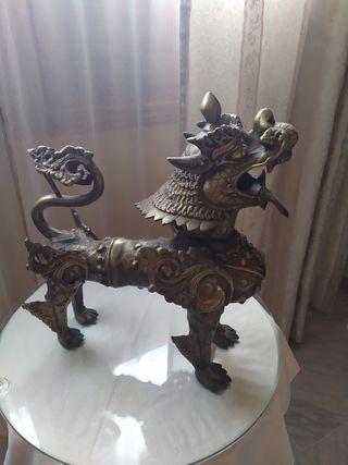 escultura perro-dragon-leon foo