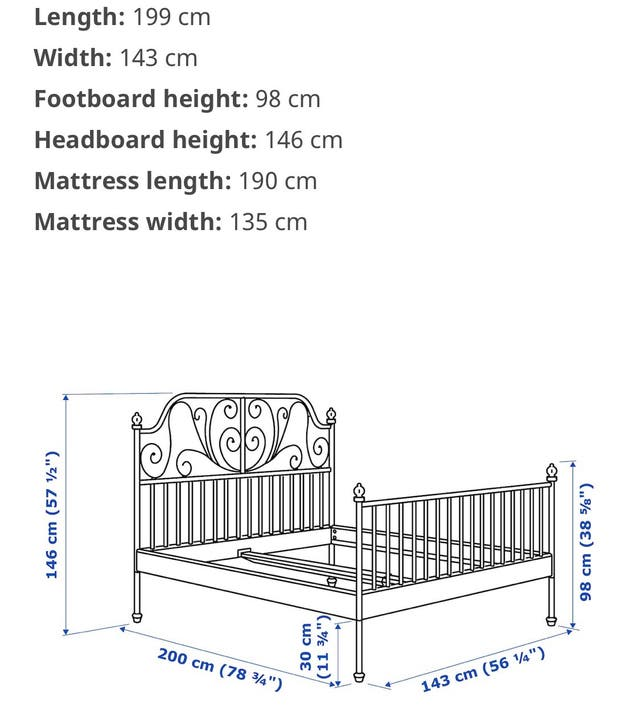 Frame bed. Double
