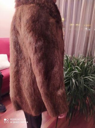 Abrigo de piel Nutria y Marmota