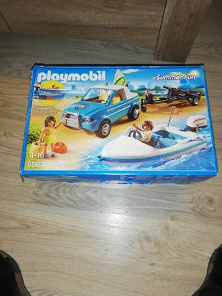 Playmobil coche con lancha