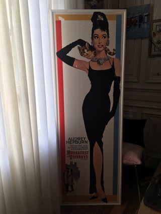 Cuadro de Audrey Hepburn en Desayuno con diamantes