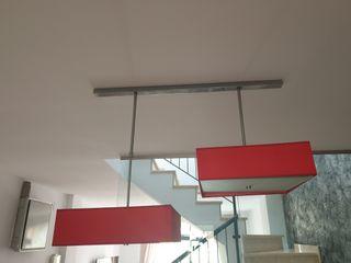 lámpara roja de diseño regulables y telescópica