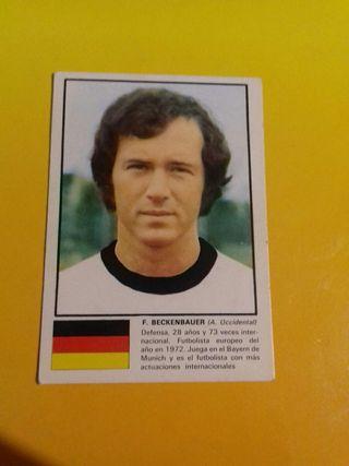 cromo de Beckenbauer mundial 74 nunca pegado
