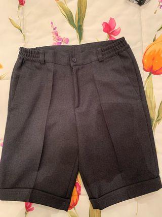 Pantalón corto gris uniforme colegio - 14