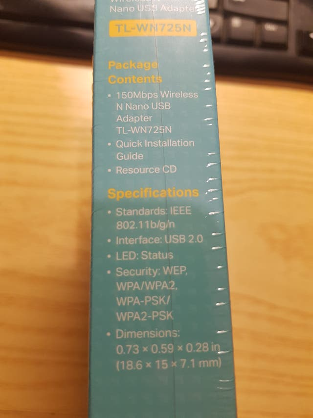ADAPTADOR WIRELESS USB TP-LINK TL-WN725N