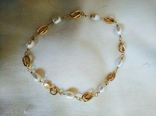 pulsera oro y perlas cultivadas