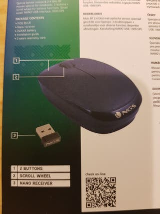 RATON INALAMBRICO NGS FOG BLUE OPTICO 1000 DPI