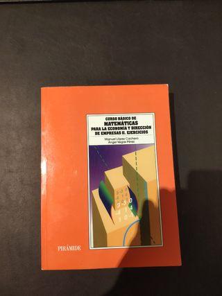 Libro Matemáticas para la Economía. Ejercicios