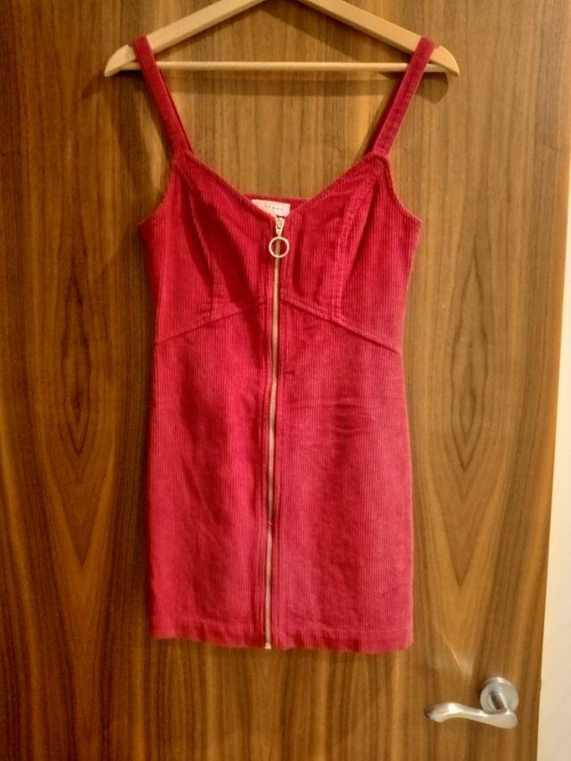 Topshop Red Velvet Dress