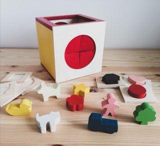 caja ciega Montessori Waldorf
