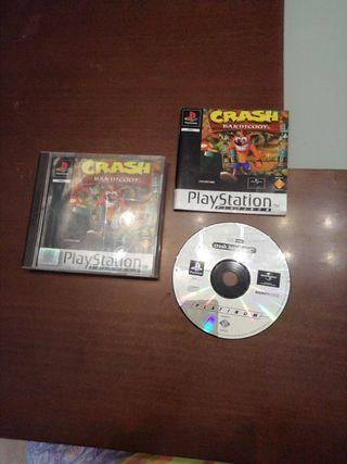 juego play station I. Crash Bandicoot.