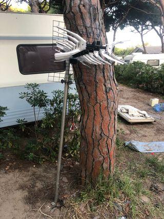 Antena tv con mastil 3,5 metros, caravana, camper