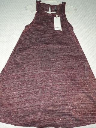 vestido morado etiqueta