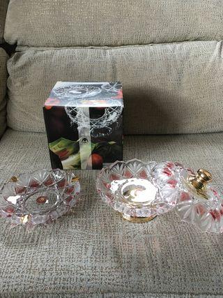 ¡Nuevo!Bombonera y cenicero Walther glas cristal