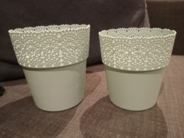 Plastic Pot Set of Two