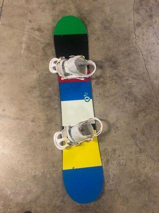 Tabla de snowboard Burton Custom 35, y botas burto