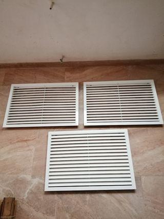 rejillas de ventilación de aluminio blanco 63x43