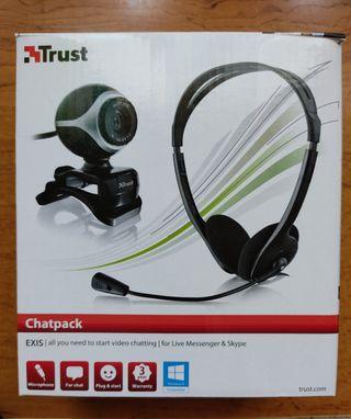 Web cam + auriculares con micro
