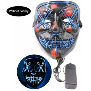 máscara para Halloween con iluminación