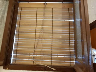 Persiana enrollable plástico para ventana