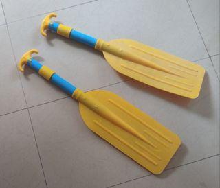 Remos extensibles para canoa. Plástico y metal. C