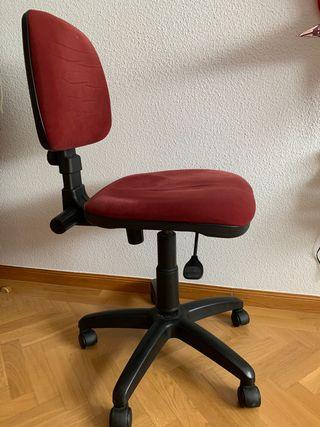 Silla escritorio sin brazos