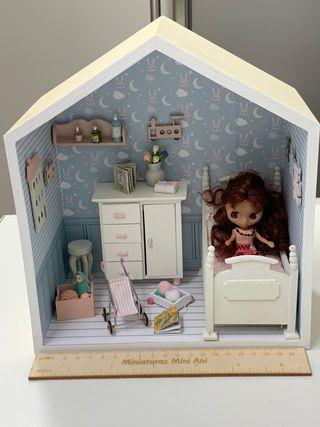 Diorama, escena miniatura para petite Blythe