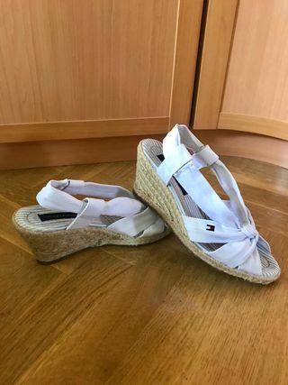 Sandalias-cuñas Tommy Hilfiger originales