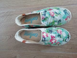 zapatillas esparto floreadas Cool way