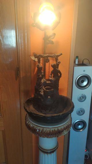 lampara y fuente de diseño