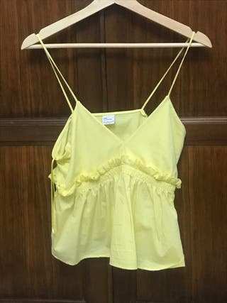 Top amarillo zara