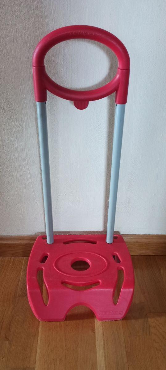 Carrito porta mochila rojo