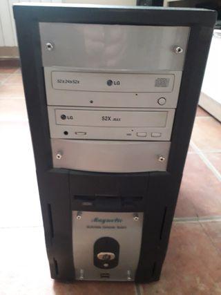 disquetera,reproductor de cd y regrabadora