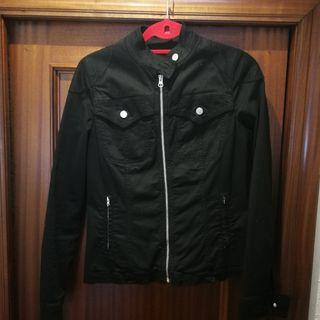 chaqueta vaquera mujer bato peto negra talla 42