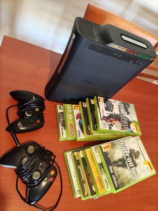 Xbox 360 + 9 juegos