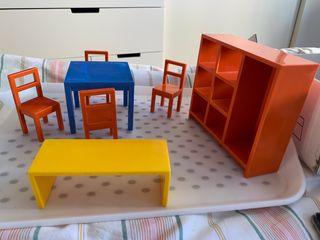Lote de muebles casa de muñecas