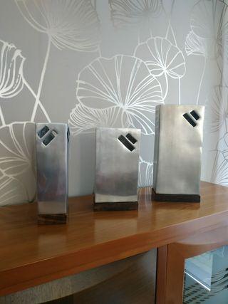 Conjunto jarrones decorativos