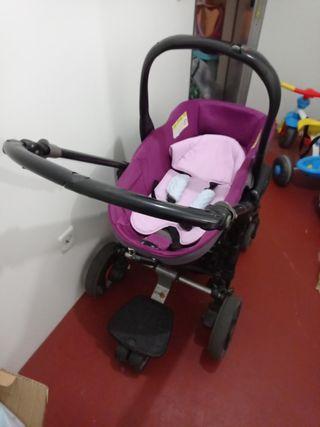 cuco y silla de bebés o carro para niña
