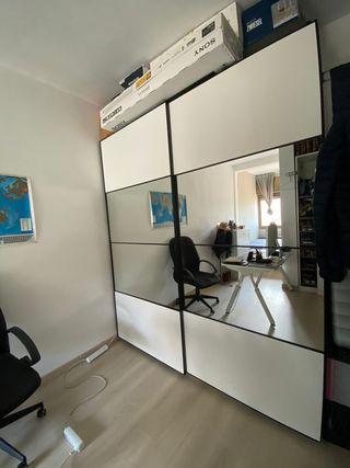 Armario PAX IKEA 2 ud. 50x58x236 + 1 ud.100x58x236
