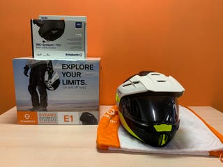 Casco Schuberth E1 Gravity Yellow + Intercomunicad