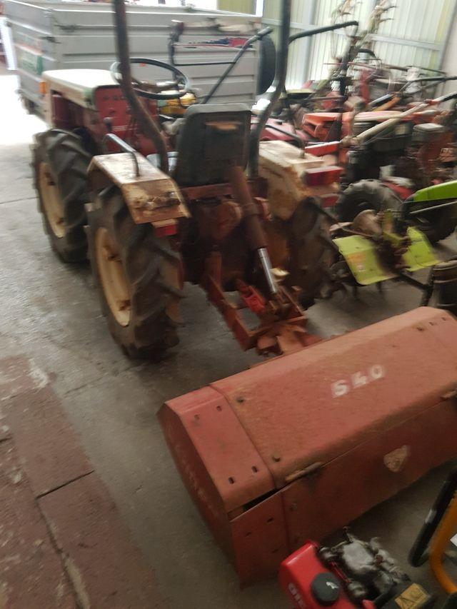Tractor Pascualin con fresadora