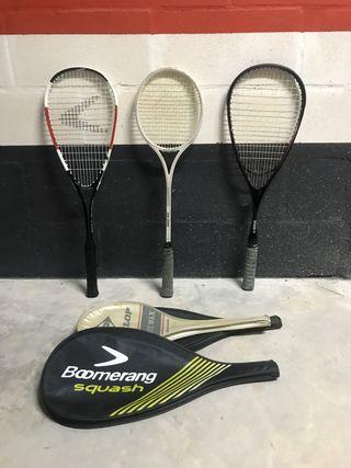 Set raquetas Squash y tenis