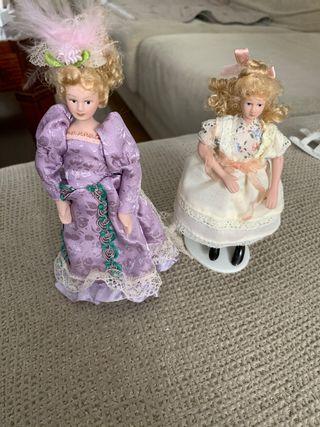 Lote Dos muñecas casa de muñecas escala 1:12