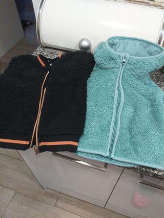 2 chaquetas bebe de pelo de peluche