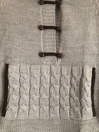 Poncho gris de first outlet