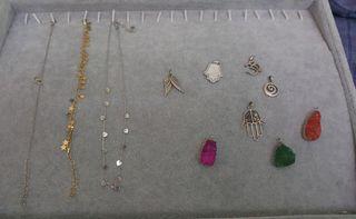 Lote 43 piezas joyas playa 925 y baño de oro