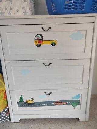 dormitorio completo infantil cama coche