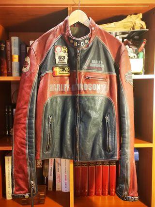 chaqueta cuero Harley Davidson