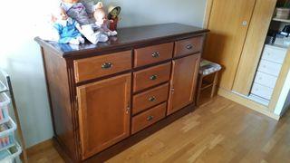 mueble comoda de madera maciza