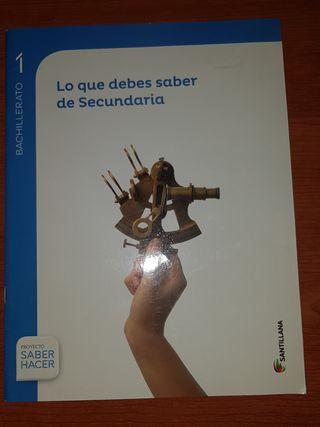 libro Matemáticas de ayuda para bachillerato